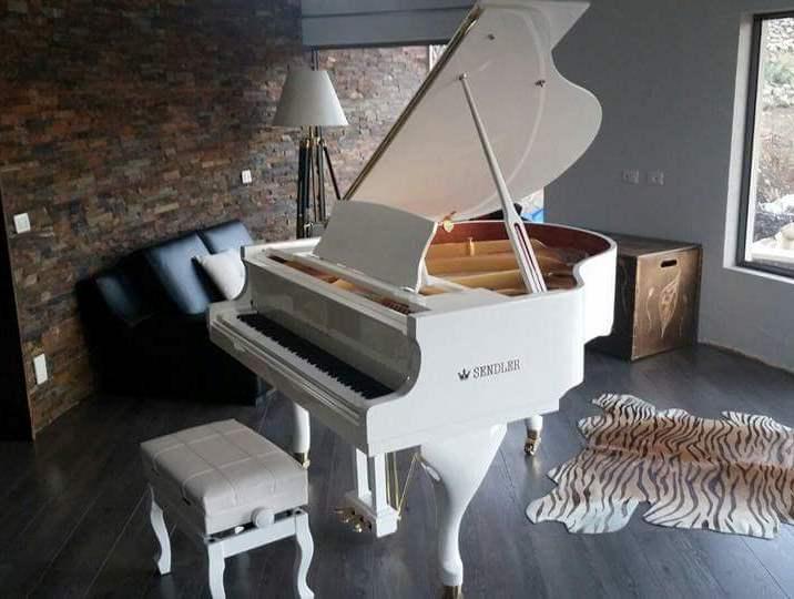 צעיר פסנתר כנף לבן חדש SENDLER   פסנתרי הצפון - המרכז לפסנתרים GA-88