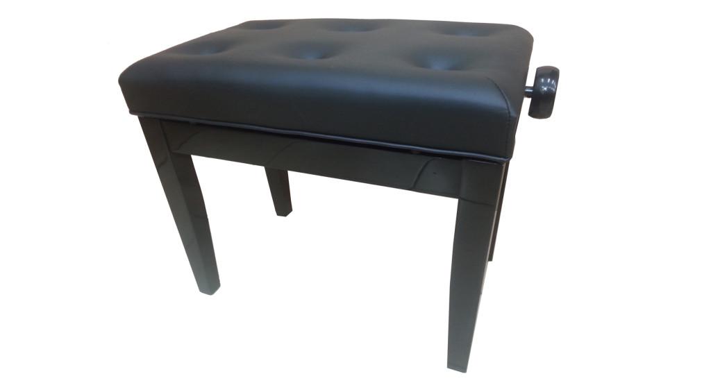 כסא לפסנתר סקאי שחור (01)