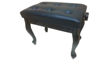 כסא פסנתר מתכוונן שחור סקאי