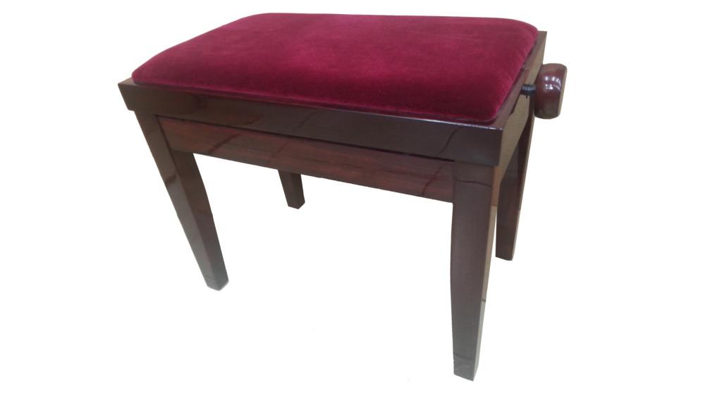 כסא לפסנתר קטיפה בורדו (17)