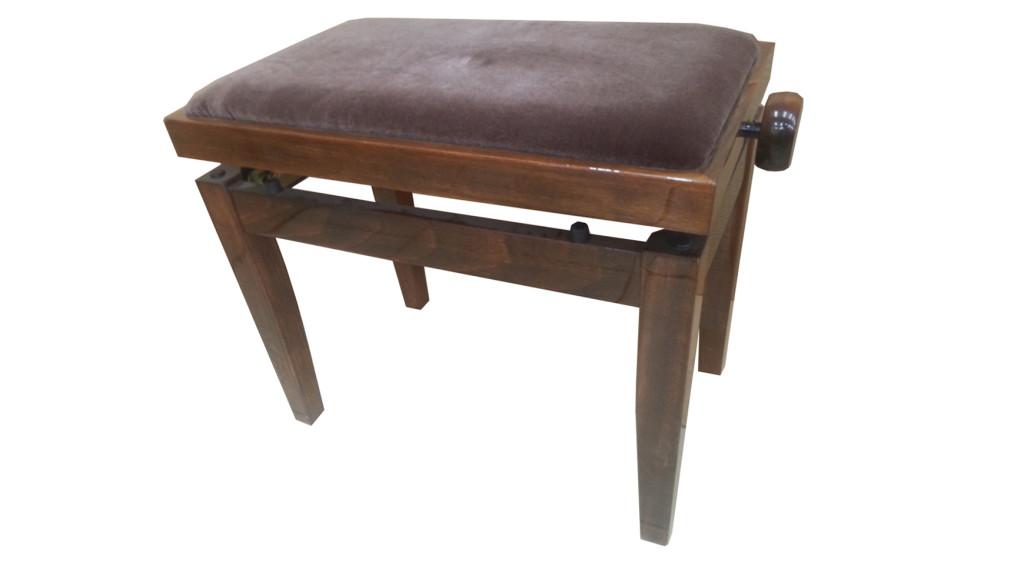 כסא לפסנתר קטיפה חומה (23)