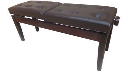 כסא פסנתר מתכוונן זוגי לשני נגנים