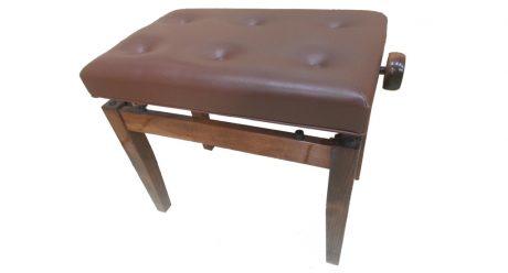 כסא לפסנתר מתכוונן סקאי חום