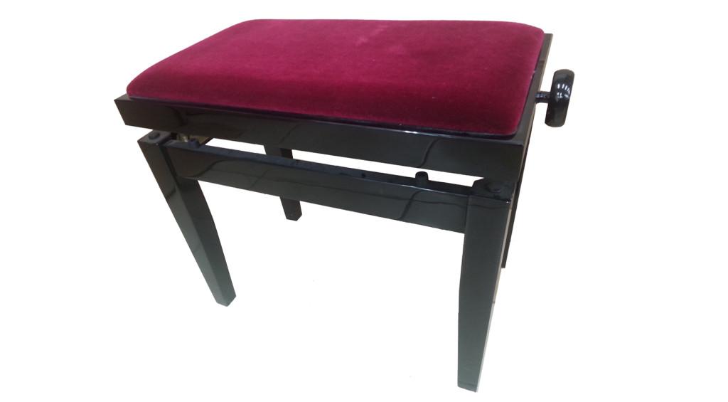 כסא לפסנתר קטיפה בורדו (08)