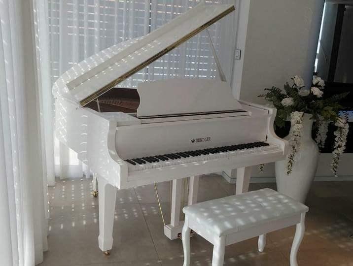 רק החוצה פסנתר כנף לבן חדש SENDLER   פסנתרי הצפון - המרכז לפסנתרים SI-41