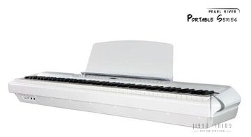 פסנתר נייד לבן pearl river p200