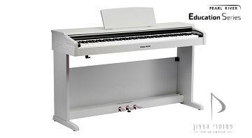 פסנתר רהיט לבן pearl river v03